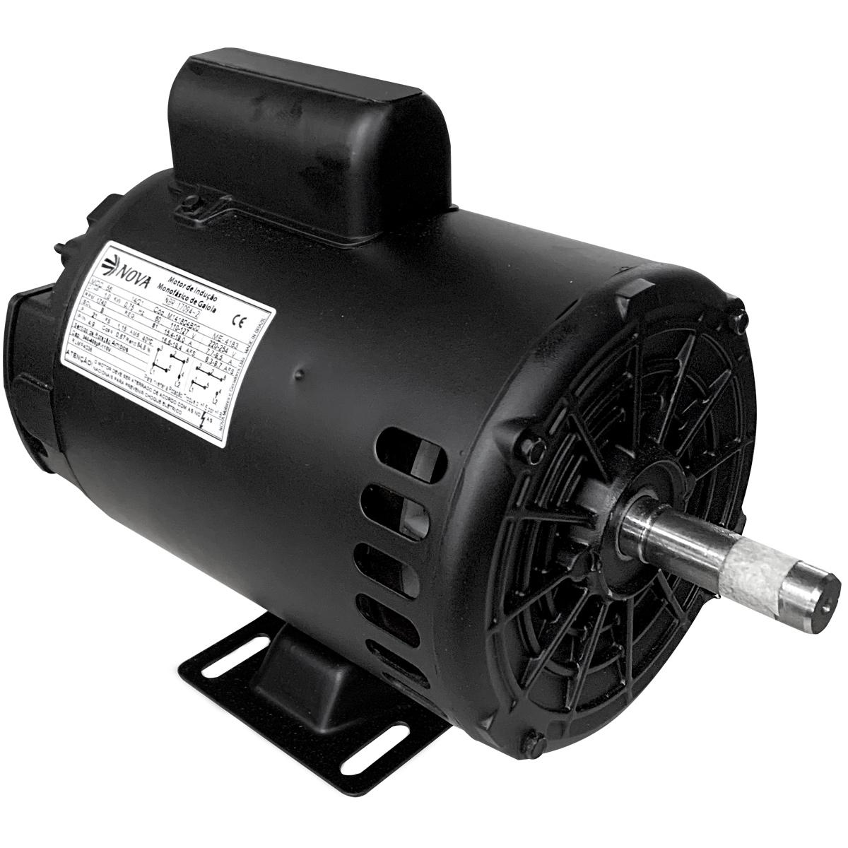Motor Elétrico Monofásico 1cv 4polos 110/220v Baixa Rotação