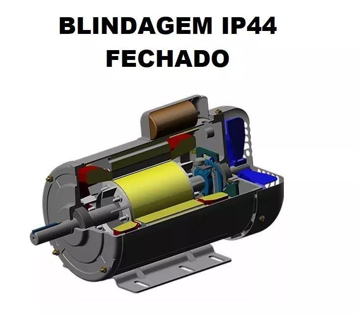 Motor Elétrico Monofásico 2cv Fechado 110/220v Alta Rotação
