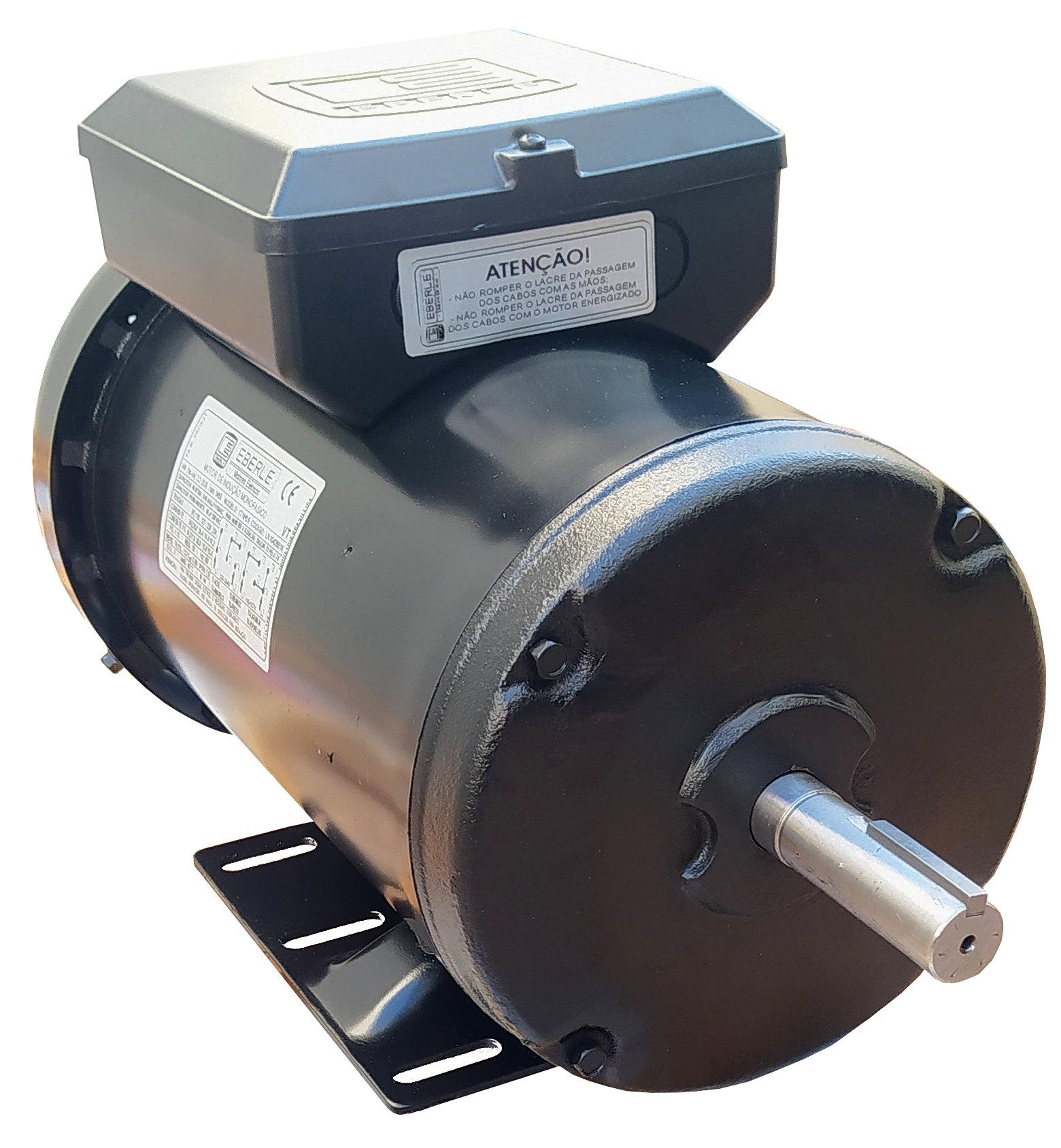 Motor Elétrico Monofásico 3cv Alta Rotação 110/220v Ip44 Blindado  Polos Eberle Mercosul