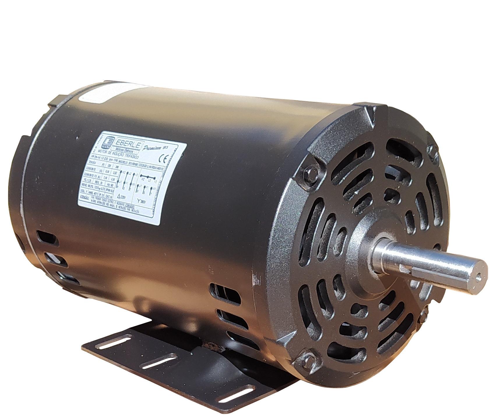 Motor Elétrico Trifásico 1cv 4 Polos Baixa Rotação 220/380v Aberto IP21 Eberle Mercosul IR3