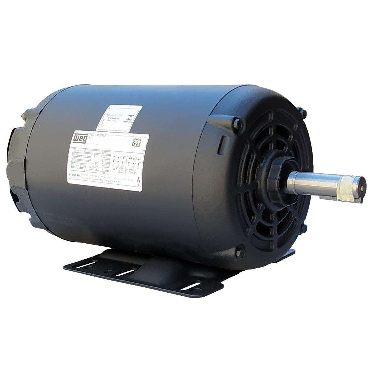 Motor Elétrico Trifásico 2CV 4 Polos Baixa Rotação 220/380v Aberto IP21 Weg IR3