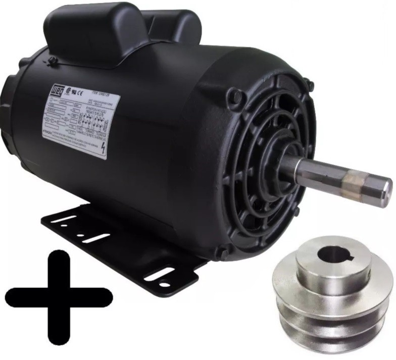 Motor Elétrico Weg Monofásico 2cv 4polos 110/220 Betoneira Polia