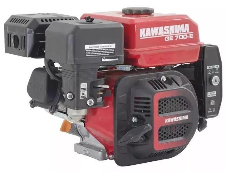 Motor Estacionário 7hp Partida Elétrica Gas Ge700e Kawashima