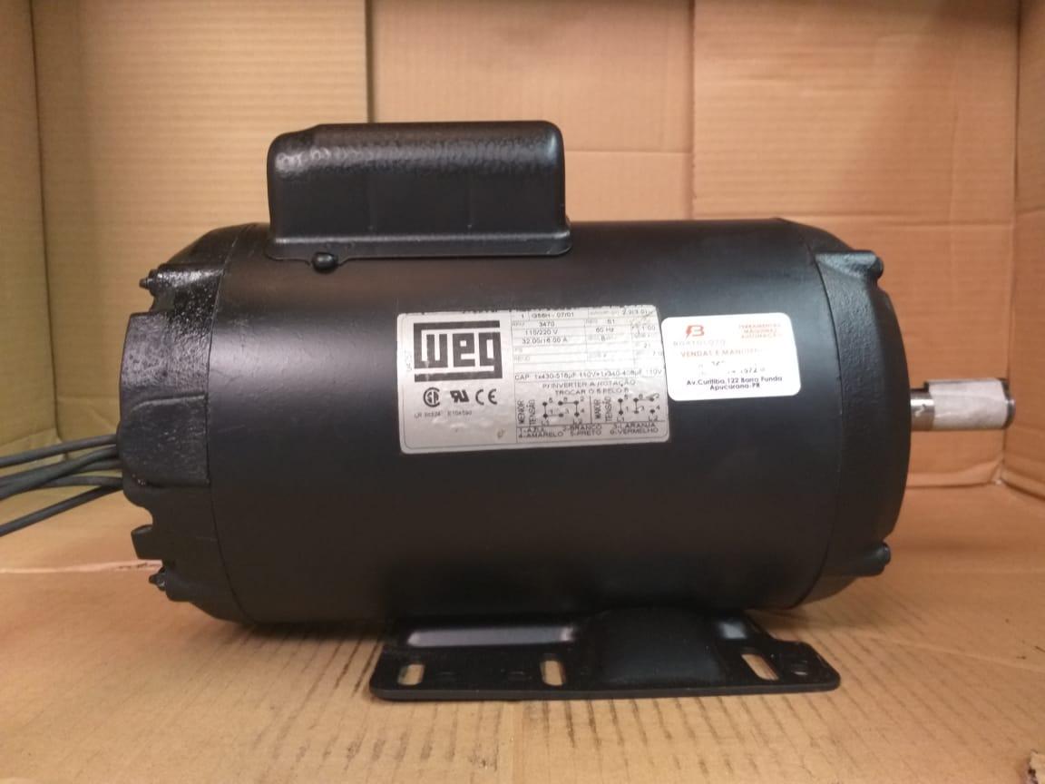 Motor Monofasico 3CV 2 Polos 3450rpm Alta Rotação IP21 110/220V Weg Usado