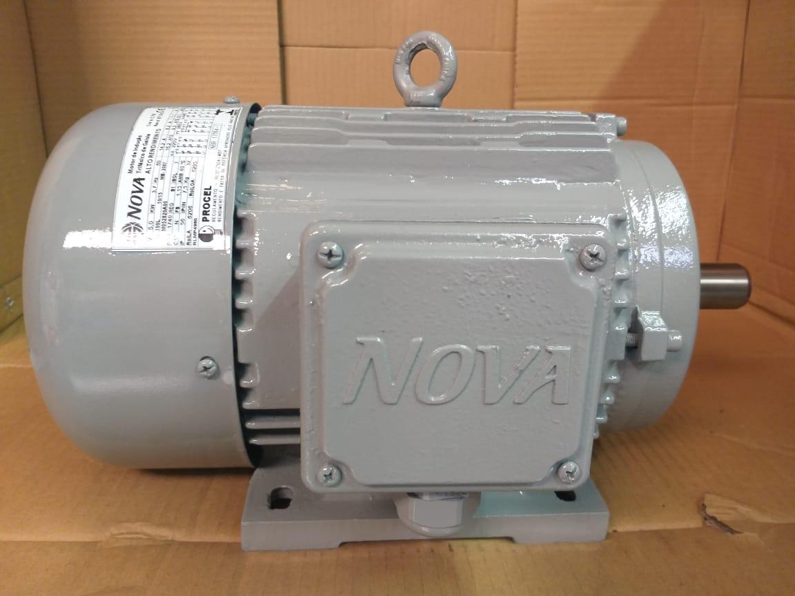 Motor Trifásico 5CV 6 Polos 1100Rpm Blindado 220V 380V Baixa Rotação Eberle Usado