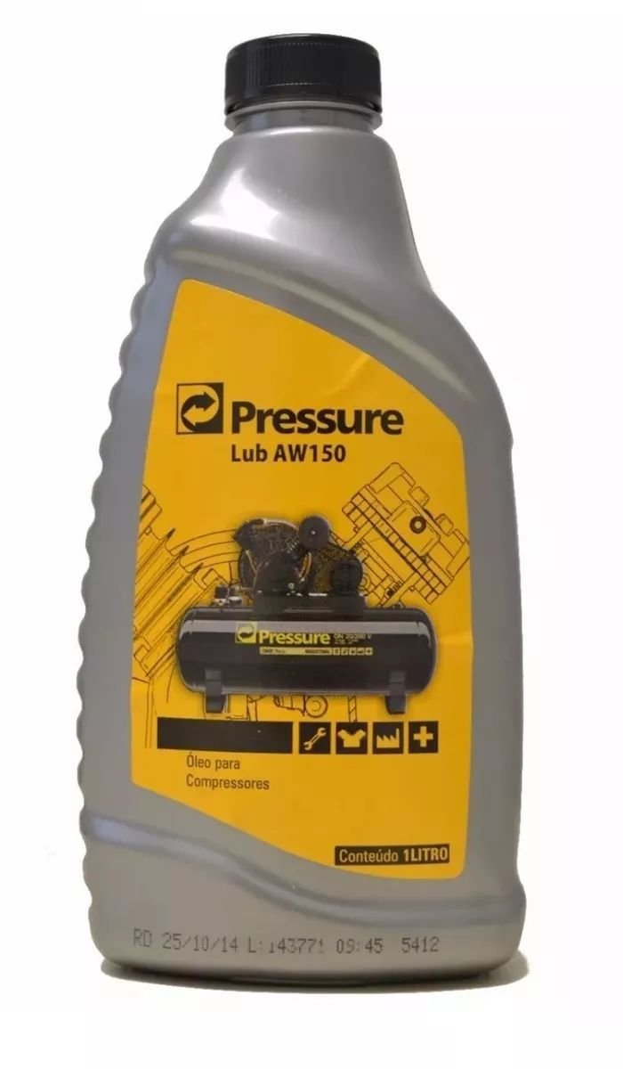 Óleo Para Compressor Aw 150 Pressure 18 Litros
