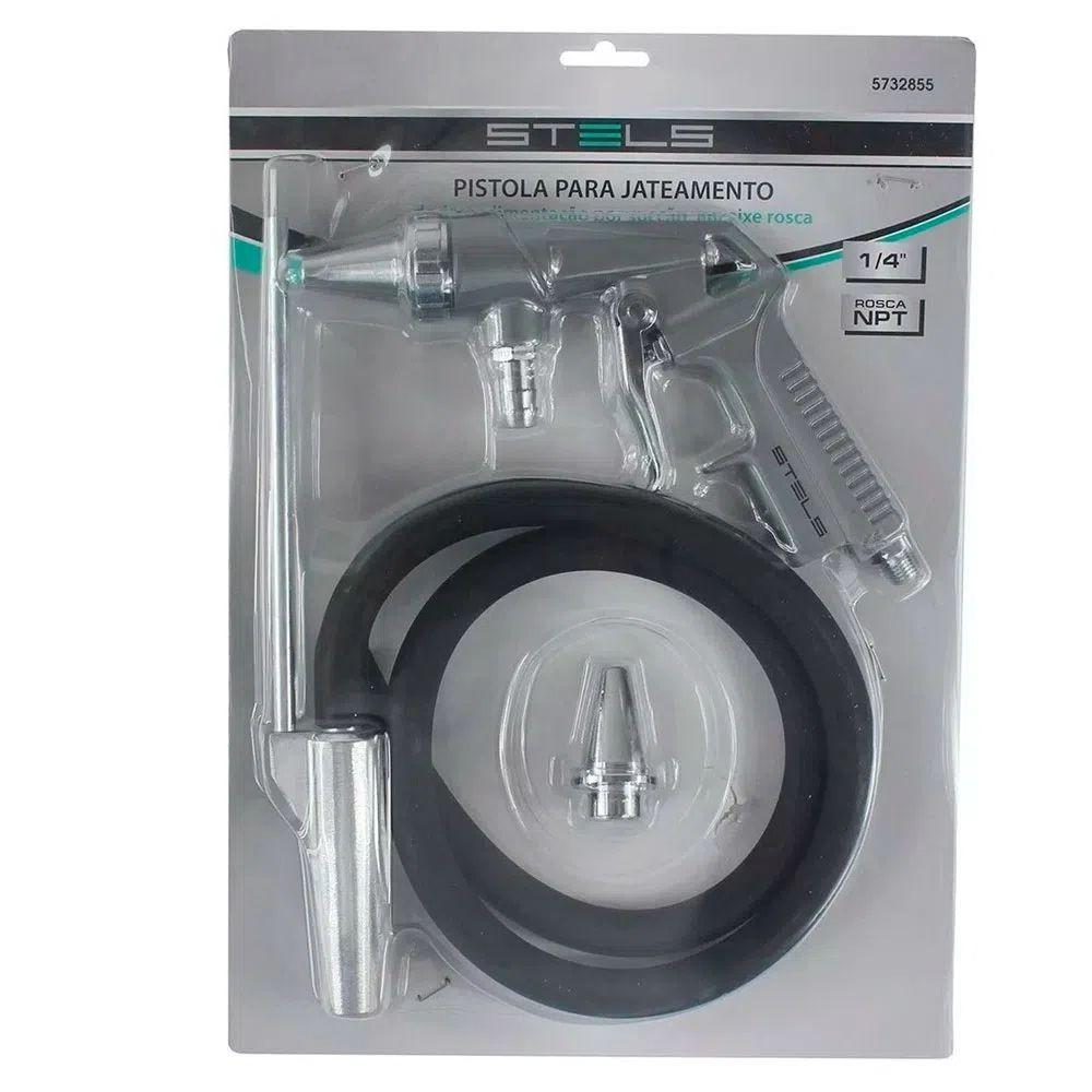 Pistola para Jateamento de Areia por Sucção Encaixe Rosca 1/4 2 Bicos NPT 5732855 -Stels