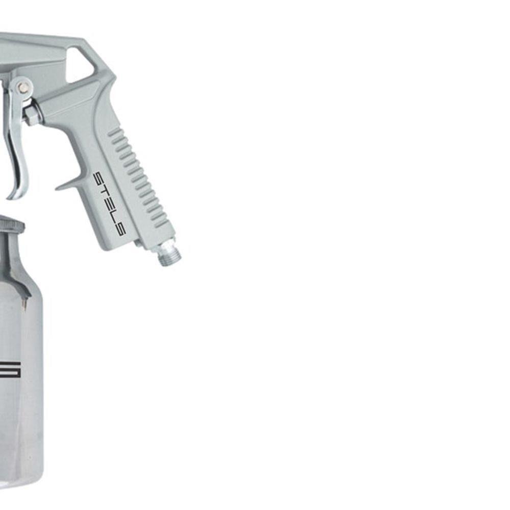 Pistola para Jateamento de Areia 1l Tanque Baixo Alimentacão Por Sucção 5732655 Stels