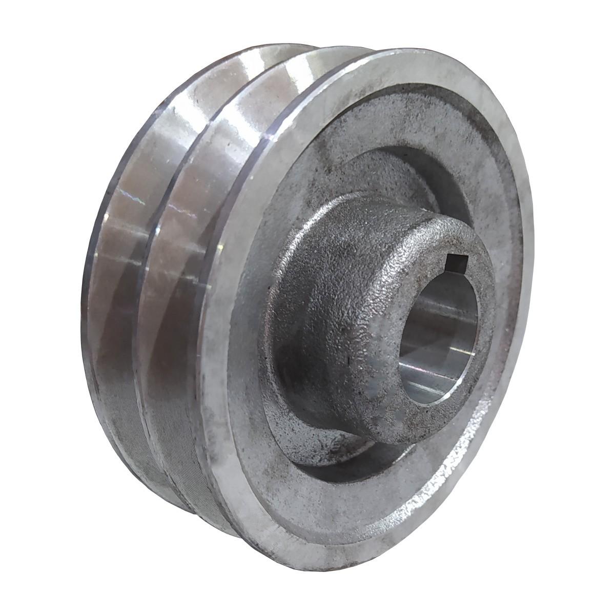 Polia De Aluminio 100mm Motor Furo 3/4
