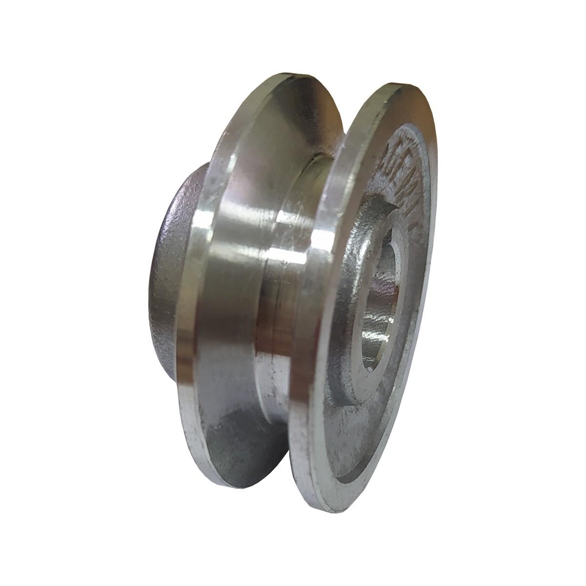 "Polia De Aluminio 50mm Furo 3/4"" 19mm 1 Canal A Chaveta"
