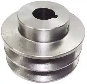 "Polia De Aluminio 70mm Furo 3/4"" 19mm 2 Canal A Chaveta"