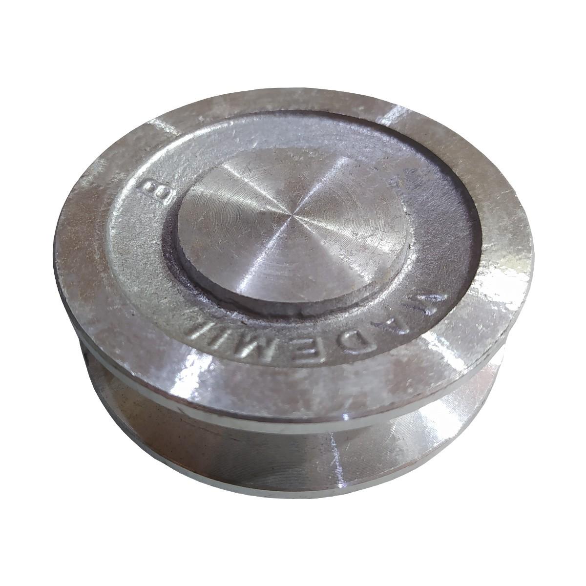 Polia De Aluminio 80mm 1 Canal B Sem Furo