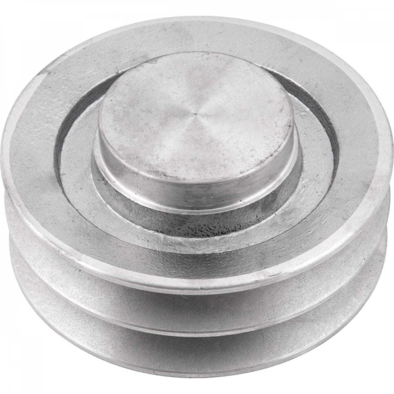Polia De Aluminio 80mm P/ Motor 2 Canal B Sem Furo