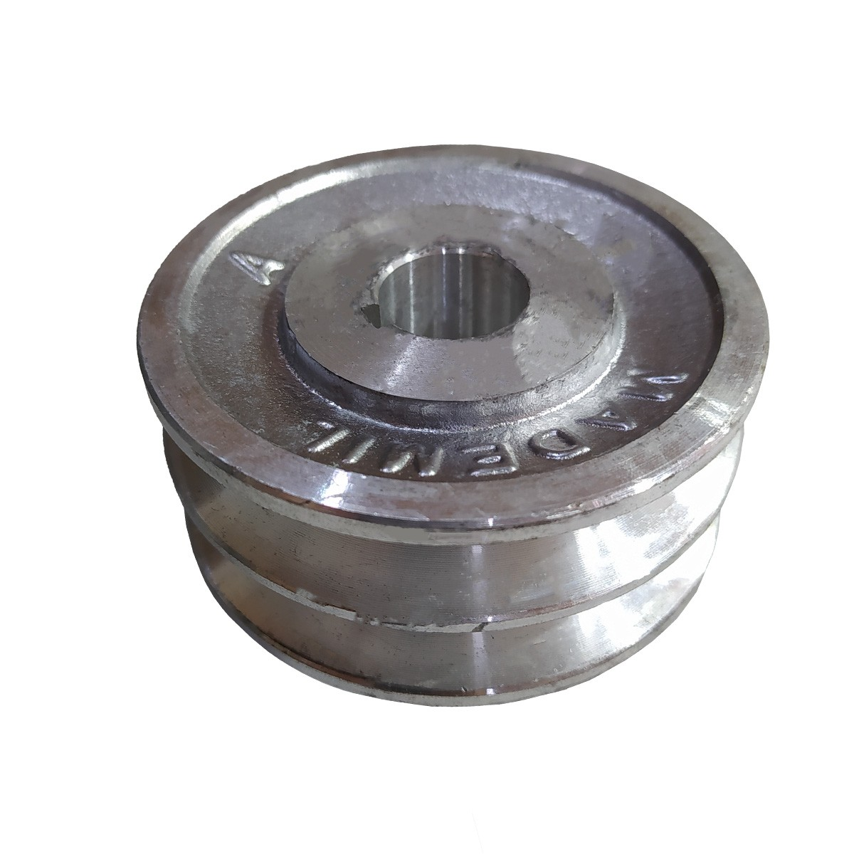 "Polia De Aluminio 90mm Motor Furo 3/4"" 19mm 2 Canal A Chaveta"