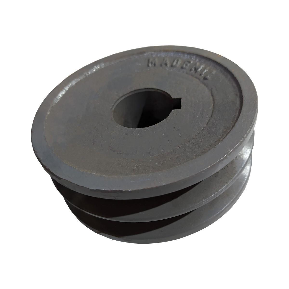 Polia De Ferro 110mm 2 Canal A Furo 28mm