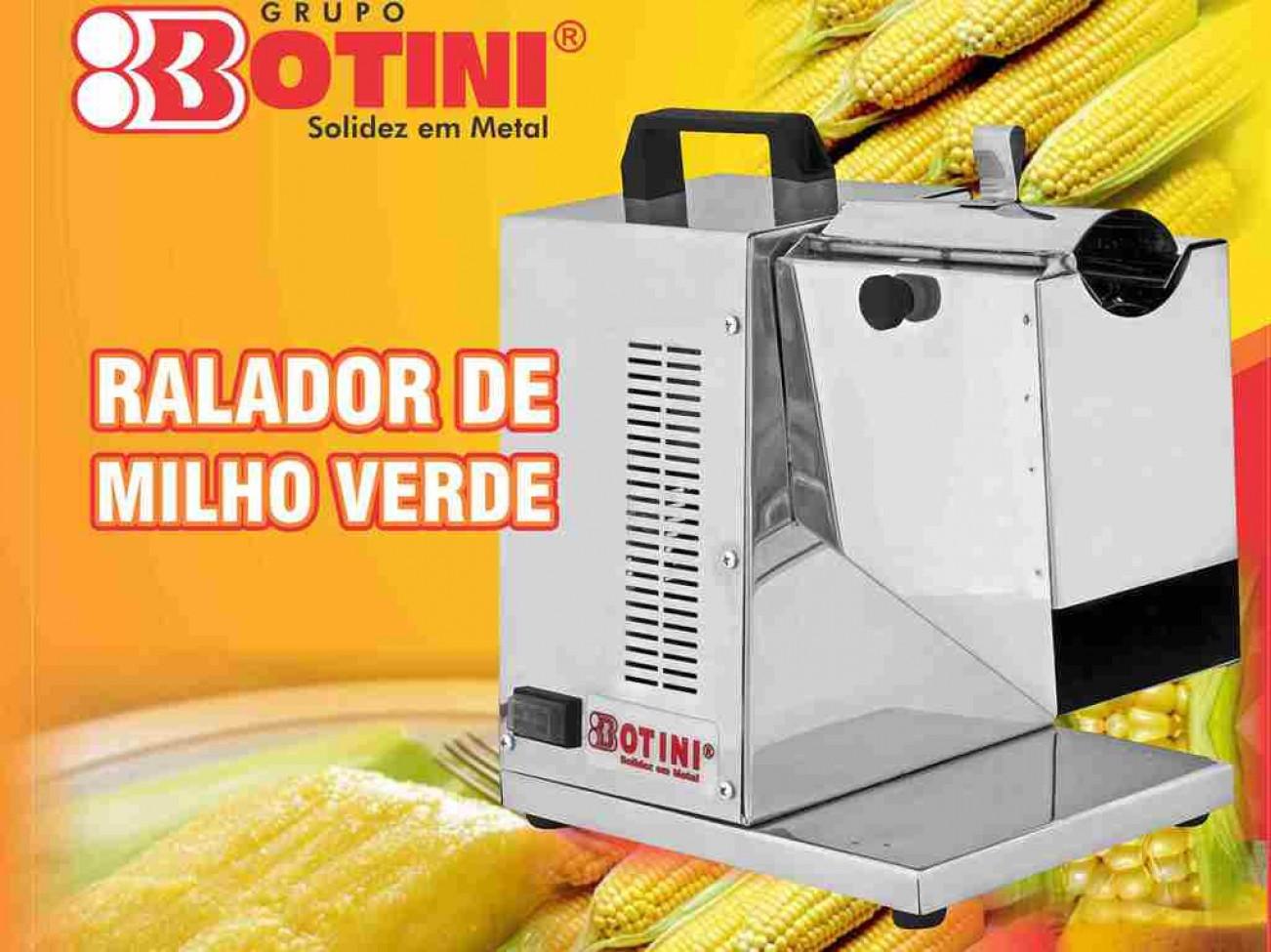 Ralador de Milho Verde Elétrico Motor 1/4cv Bivolt Botini