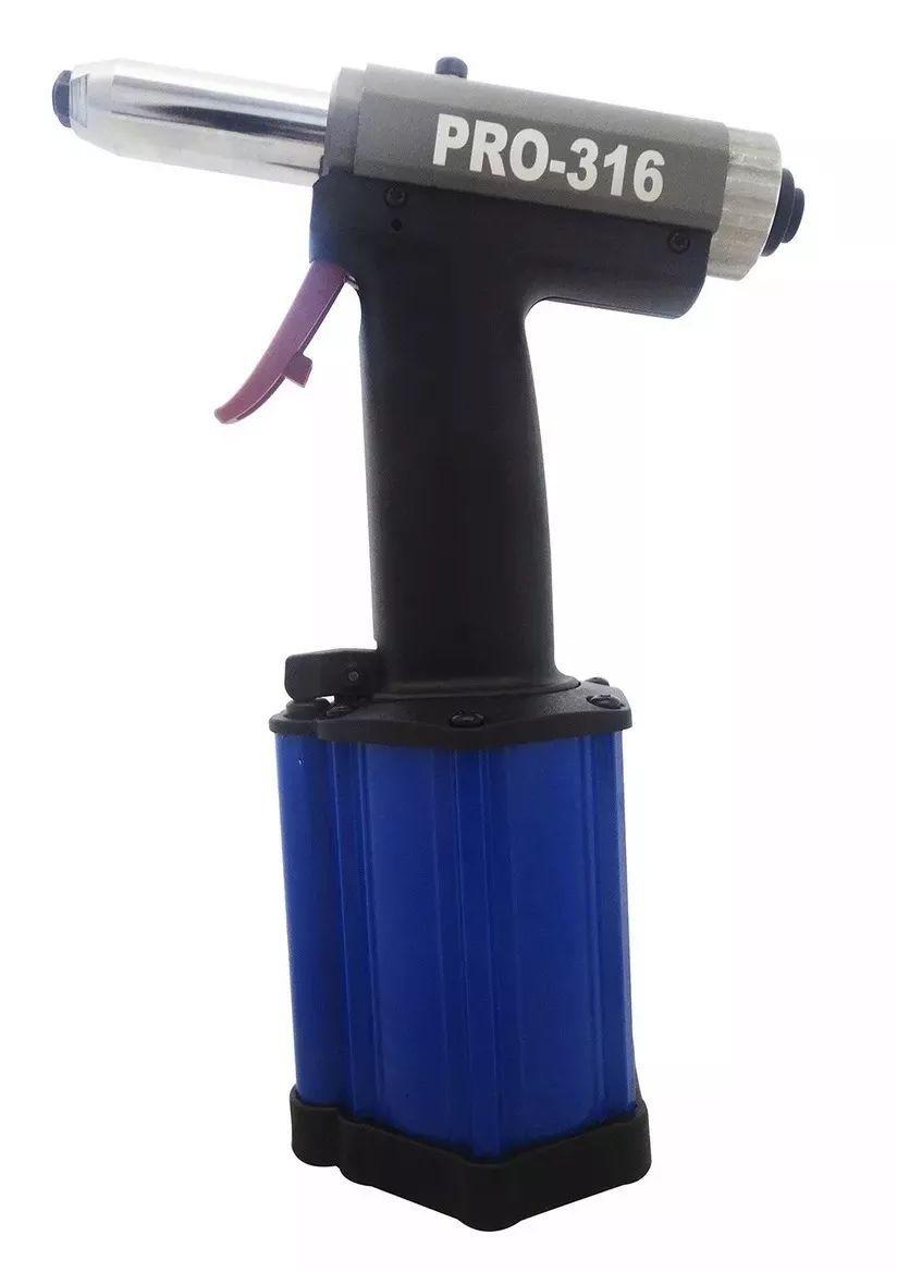 Rebitador Pneumático Rebite 3/16 Pro-316 4,8mm - Ldr2