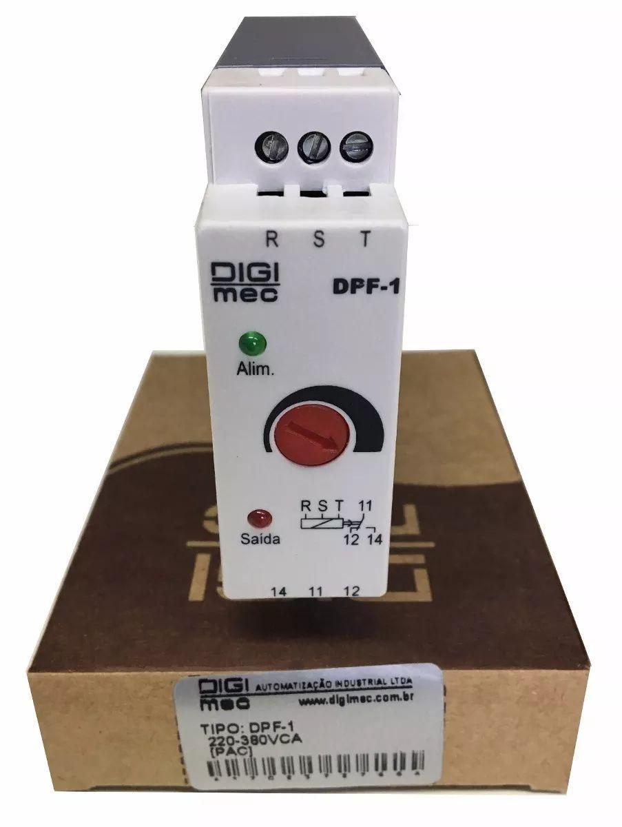Relé Falta De Fase Digimec Dpf-1 220/380v S/ Neutro