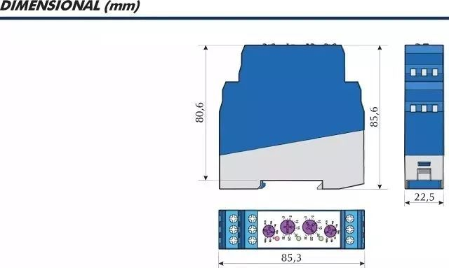 Relé Temporizador Cíclico Clip Clc 1 Relé 01s A 100h 24-242v