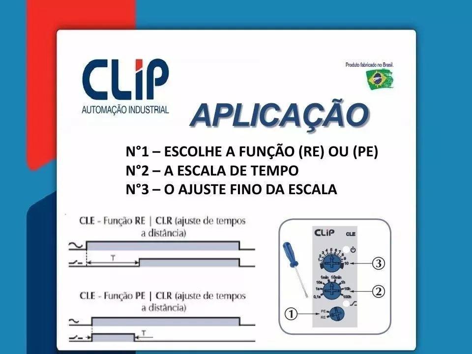 Relé Temporizador Cle 24-242v Retardo/pulso Energização Clip