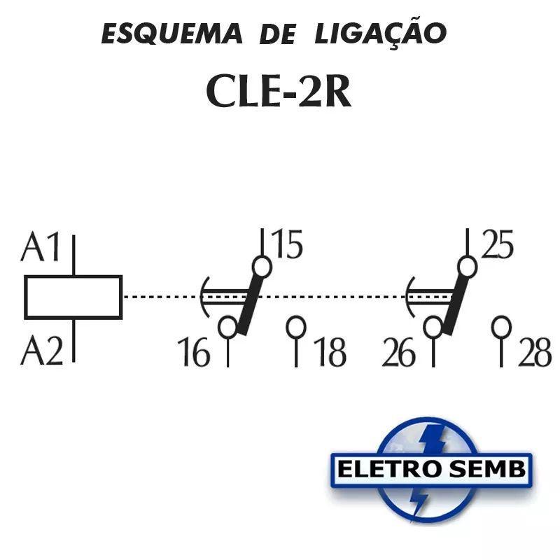 Relé Temporizador Cle 2r Pulso E Retardo 2 Relés Clip