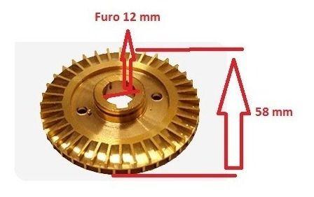 Rotor De Água Para Bomba Periférica De 1/2 Cv Eletroplas Ferrari Todas Marcas