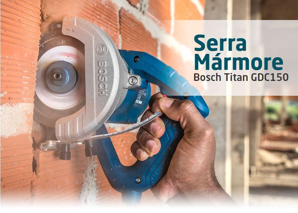 Serra Mármore Bosch Titan 1500W GDC150 Profissioanal 127V