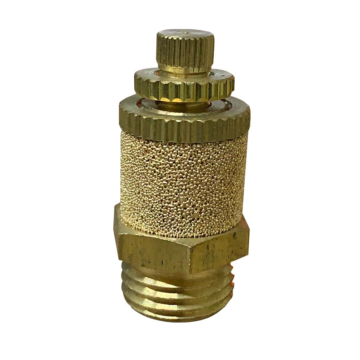 Silenciador Pneumático C/ Controle De Fluxo Rosca 1/4 - 2 Unidades