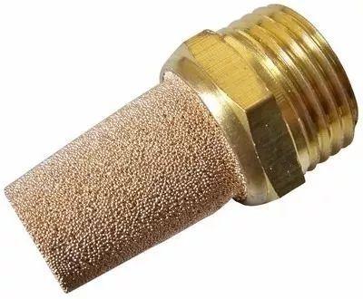 Silenciador Pneumático Sinterizado Cônico Rosca 1/4 - 5 Unidades