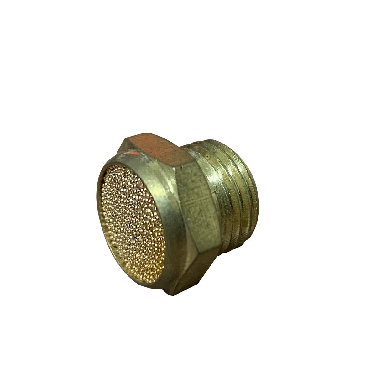 Silenciador Pneumático Sinterizado Reto Rosca 1/4 - 5 Unidades