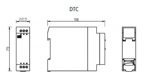 Temporizador Rele Cíclico Dtc-1 Digimec 06/06 Minutos 220v