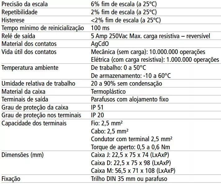 Temporizador Rele De Tempo Dte-1 Digimec 15 Segundos 24/220