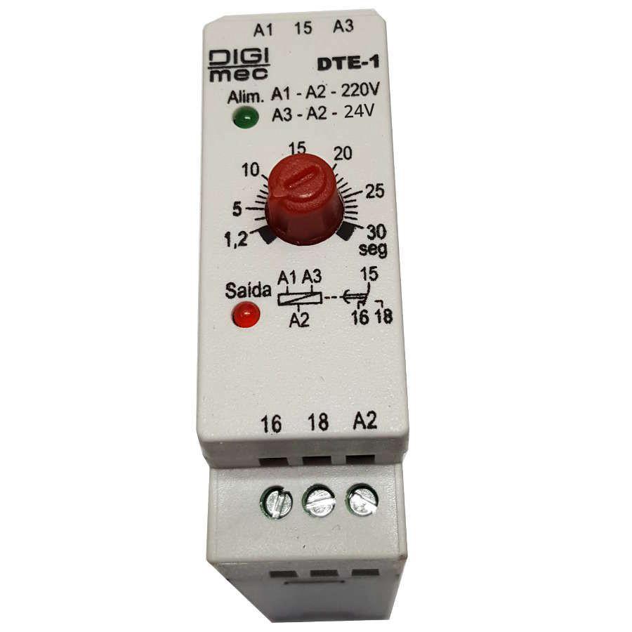 Temporizador Rele De Tempo Dte-1 Digimec 30 Segundos  24/220