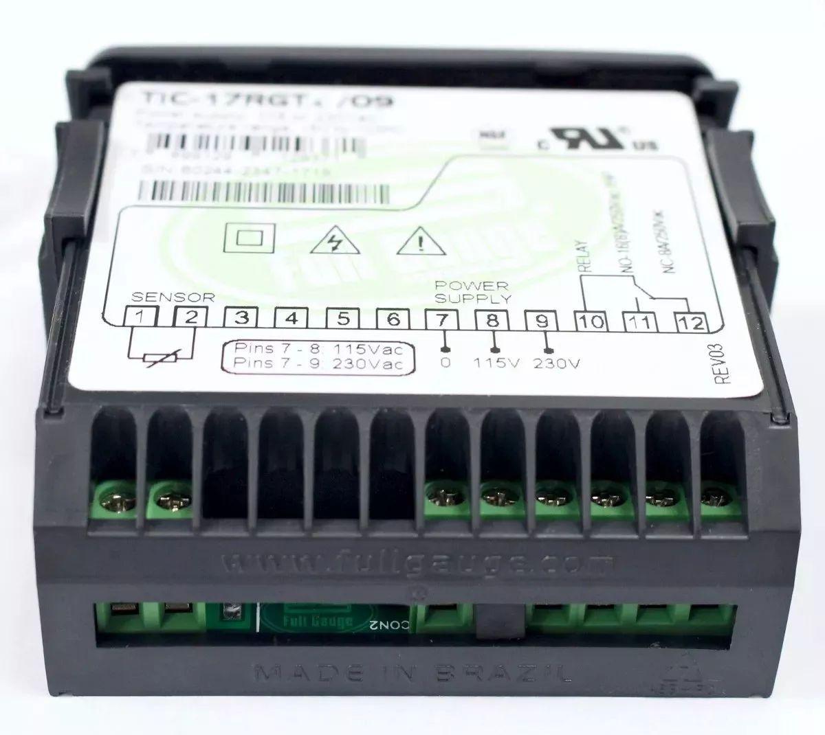 Termostato Controlador Digital Tic-17rgti Full Gauge 110/220