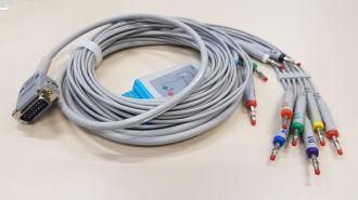 Cabo de Ecg  10 Vias Completo C/ Terminais Em Garra (padrão Europeu) Teb C10 (eletrocardiógrafo) e Ecg Pc (eletrocardiógrado para Ligar no Computador)