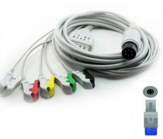 Cabo Paciente 5 Vias Compatível com BIOSYS Tipo Neo Pinch Encaixe EPX-C509-N - Vepex