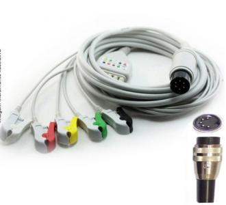Cabo Paciente 5 Vias Compatível com CMOS DRAKE Tipo Neo Pinch Encaixe EPX-C515-N - Vepex