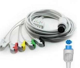 Cabo Paciente 5 Vias Compatível com DATEX OHMEDA Tipo Neo Pinch Encaixe EPX-C520-N - Vepex