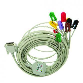 Cabo Paciente ECG 10 Vias Bionet Tipo Garra (Bionet)