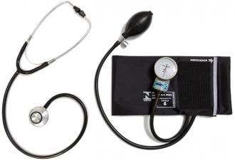 Conjunto Aparelho de Pressão Arteri Adulto Nylon Fecho de Contato + Estetoscópio Adulto Duosson – P.A. MED