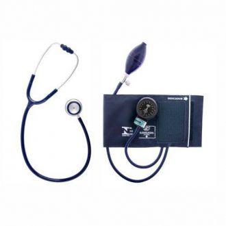 Conjunto Aparelho de Pressão Arterial Adulto Nylon Fecho de Contato + Estetoscópio Adulto Duplo – BIC