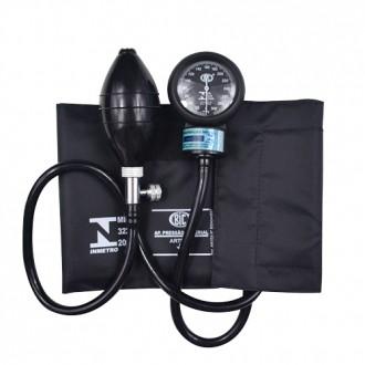 Esfignomanômetro Adulto Nylon Fecho de Contato – BIC Preto