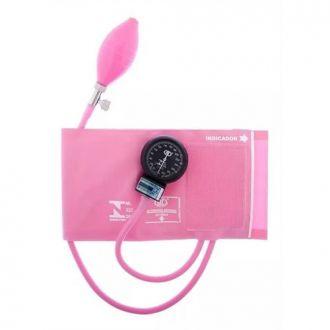 Esfignomanômetro Adulto Nylon Fecho de Contato – BIC Rosa