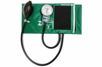 Esfignomanômetro Adulto Nylon Fecho de Contato - Verde