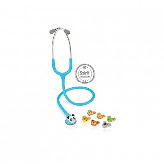 Estetoscópio Spirit® Master-Lite Adulto Azul Claro Perolizado