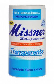 Fita Hipoalérgica Transparente 10cm X 4,5m - Missner