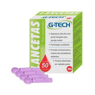 Lanceta para Lancetador G-Tech 30G Caixa com 50un.