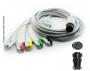 Cabo Paciente 5 Vias Compatível com BESE Tipo Neo Pinch Encaixe EPX-C505-N - Vepex
