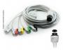Cabo Paciente 5 Vias Compatível com DIGICARE Tipo Neo Pinch Solda - Vepex
