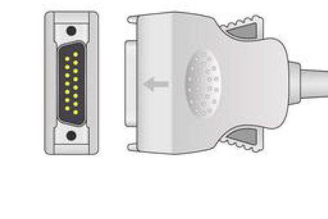 Cabo Paciente 10 Vias Para Ecg Compatível com MORTARA (Neo Pinch)